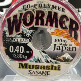 NYLON SASAME MUSASHI TRANSPARENTE 0.40MM 13,8KG 100MT